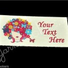 Queen of Spring - Iron On / Sew In - 100% Cotton Fabric Labels (White)