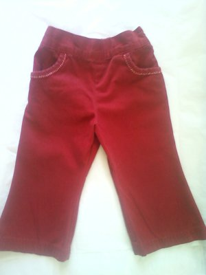 Classic Red Pants- Girl 24 Months