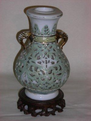hollowed vase