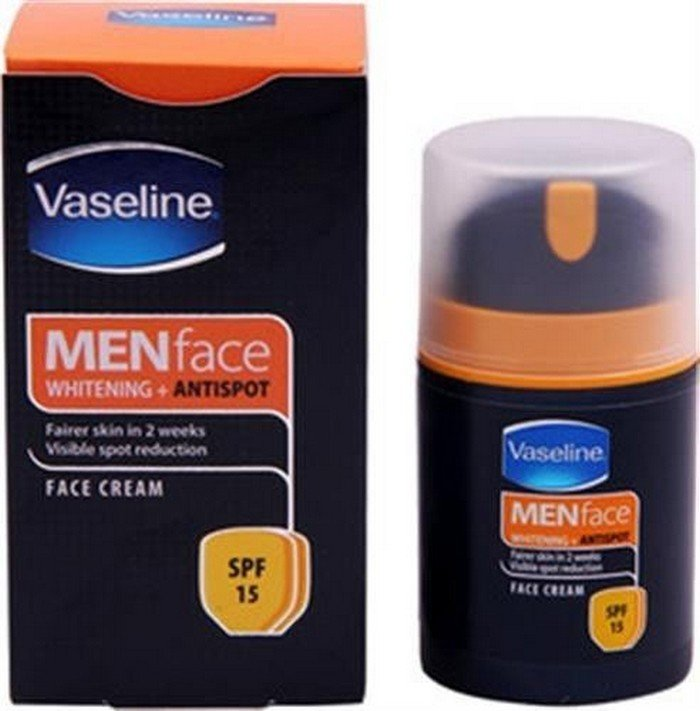 2 LOT X Vaseline Men Face Cream SPF15 (50 g x 2)