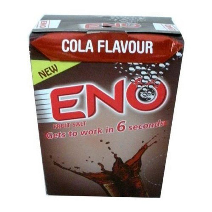 Eno Fruit Salt Antacid Powder - COLA Flavor - 1 Carton- 5 g Each