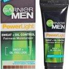 2 X Garnier MEN Power Light Oil Control Fairness Moisturiser