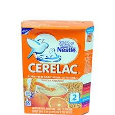 "2 LOT X Nestle Cerelac Wheat Orange - Stage 2""WHEAT ORANGE FLAVOUR""8 Months"