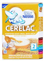 """2 LOT X Nestle Cerelac Wheat Honey - Stage 2 Baby""""WHEAT HONEY FLAVOUR""""8 Months"""