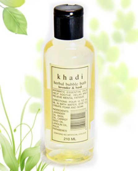2 LOT X Khadi Aromatic Bubble Bath Oil With Lavender And Basil (210 ml)
