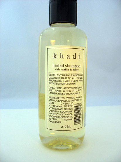 2 LOT X Khadi Shampoo With Vanilla & Honey (210 ml)