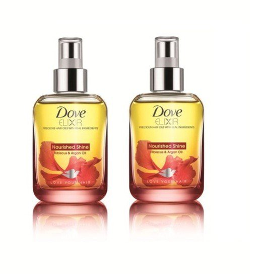 2 LOT X Dove Elixir Nourished Shine Hair Oil (90 ml) - Pack Of 2