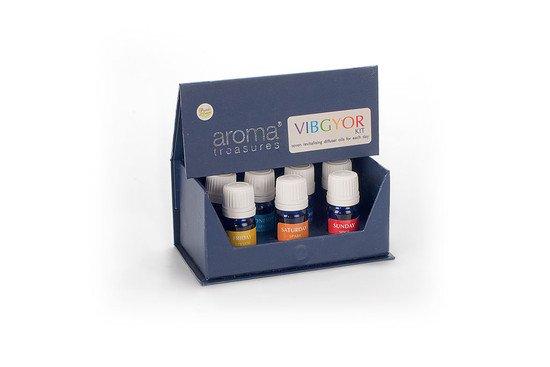 Aroma Treasures VIBGYOR Diffuser Oil Kit (5 ml x 7 Pc)