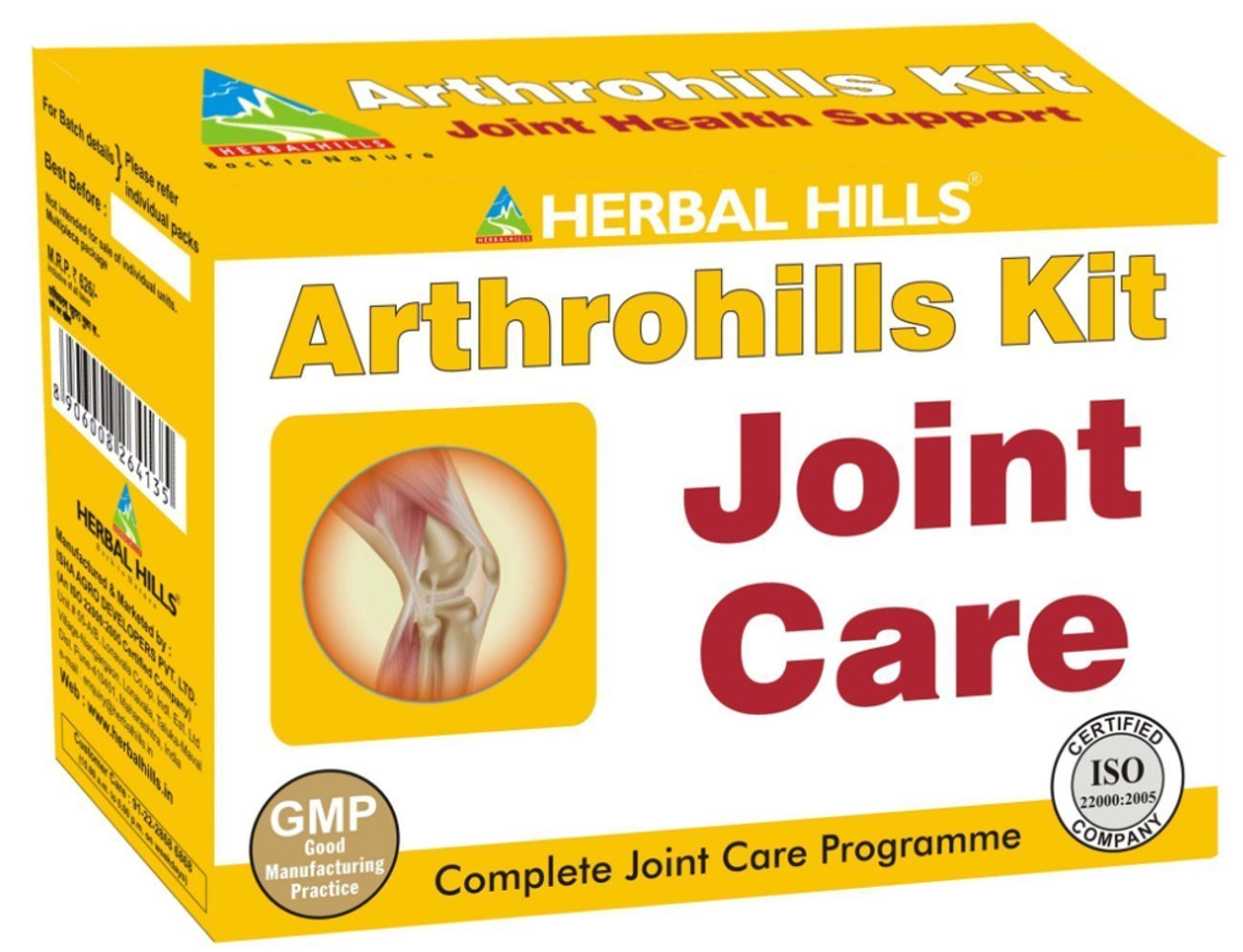 Herbal Hills Arthrohills Ayurvedic Joint Care Kit -Each 500 Mg