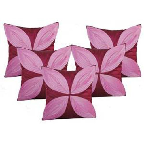 """Floral Pattern Cushions Cover (Pack of 5) -16""""x 16"""" - Purple/pink"""