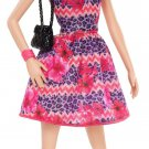 Barbie Fashionista Raquelle Doll, Pink and Purple Dress