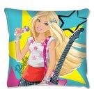 Barbie Rockstar Cushion, Aqua Blue