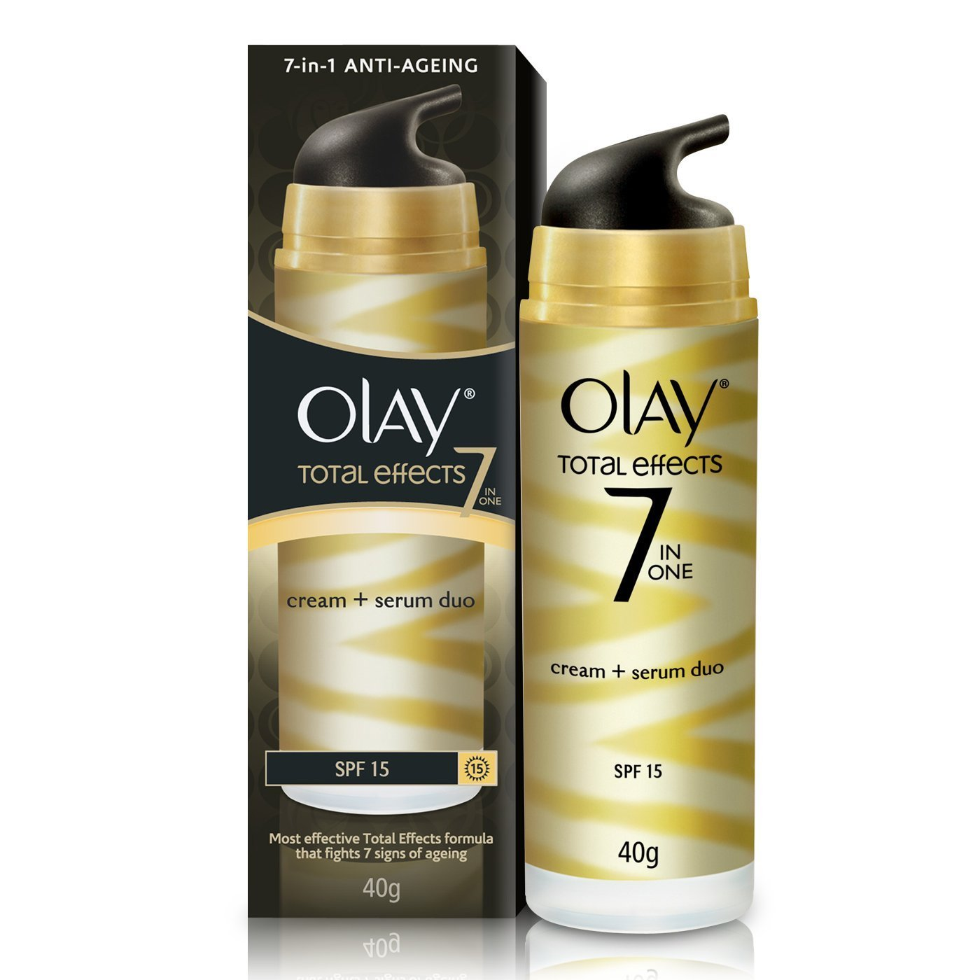 Olay Total Effects 7 In 1 Anti Ageing Cream Serum Duo