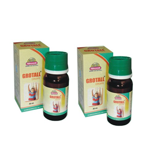 2 x Wheezal Homeopathy - Grotall Drops.(Pack of 2)