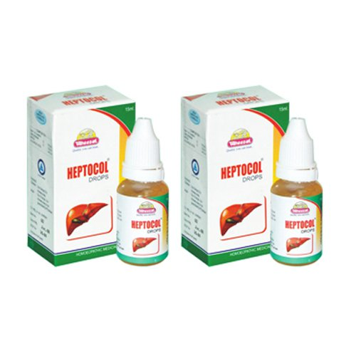 2 x Wheezal Homeopathy - Heptocol Drops.(Pack of 2)