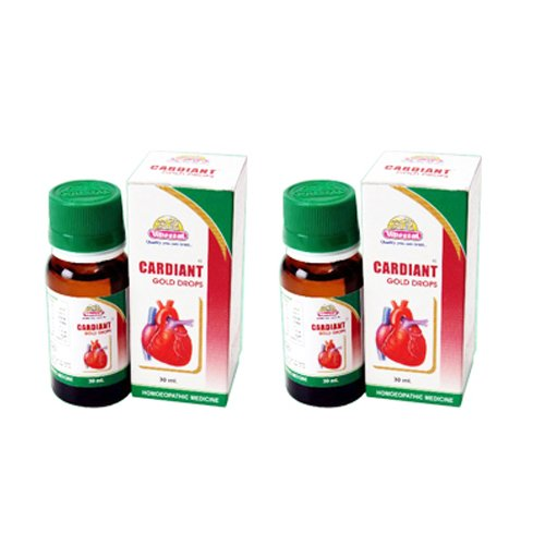 2 x Wheezal Homeopathy- Cardiant Gold Drops.(Pack of 2)