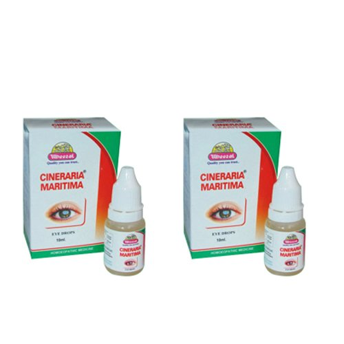 2 x Wheezal Homeopathy - Cineraria Maritima Drops.(Pack of 2)