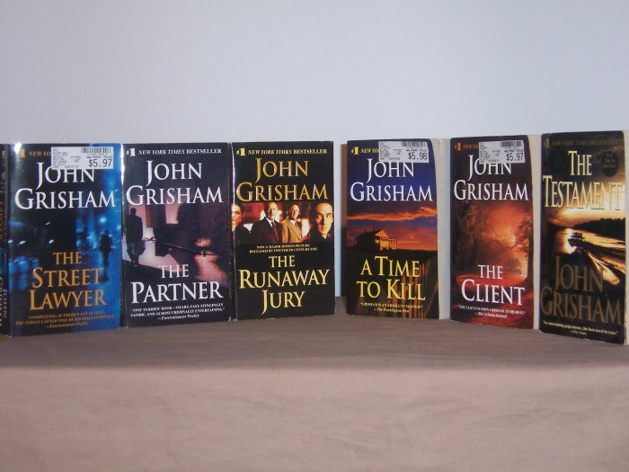 Set of 6 John Grisham books