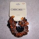 Cherokee Beaded Ponytail Holders 2pk Black and Brown NWT