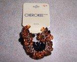 Cherokee Beaded Ponytail Holders 2pk Black and Brown NWT