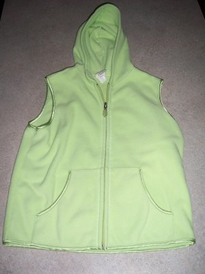 Old Navy Fleece Hoodie vest mint green size 16 girls