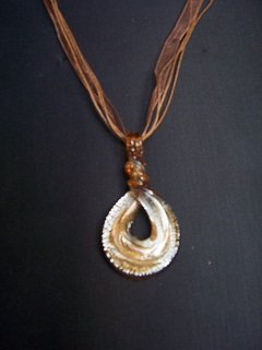 New Murano Hoop Twist Pendant Necklace