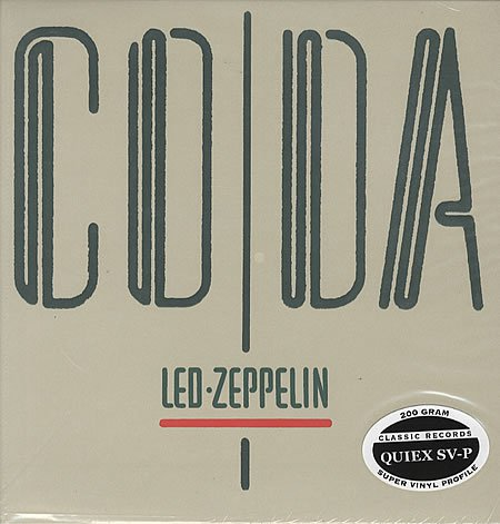 Led Zeppelin, Coda, 200 Gram 33rpm Sealed Vinyl LP (out of print)