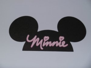 """Minnie Mouse"" Ears Scrapbook Paper Piecing"