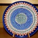 Polish Pottery Dinner Plate Unikat Art 108 Signed Zaklady Ceramiczne Boleslawiec Poland