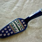 Polish Pottery Unikat  Dessert  Server  Boleslawiec Poland Art 104 Signed!