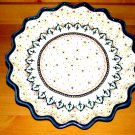Polish Pottery Quiche Pie Dish Scalloped Madison Boleslawiec Zaklady Ceramiczne