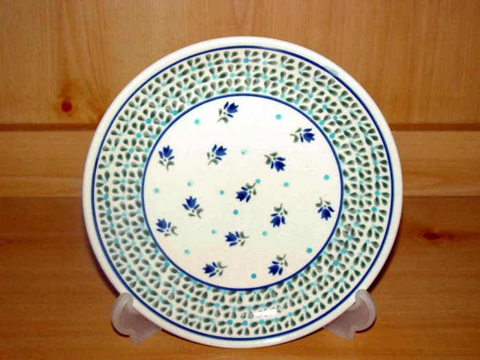 Polish Pottery Dessert Plate Morning Delight Zaklady Ceramiczne Boleslawiec