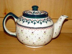 Polish Pottery Teapot Madison Zaklady Ceramiczne Boleslawiec Poland
