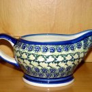 Polish Pottery Stoneware Boleslawiec Unikat Gravy Boat Shannon Gat 1 Handsigned