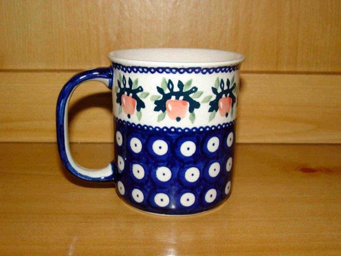 Polish Pottery Coffee Cup Strawberry Boleslawiec Poland