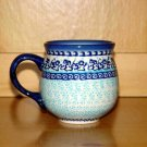 Polish Pottery Bubble Mug Unikat Winter Boleslawiec Poland
