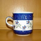 Polish Pottery Coffee Cup Daisy Chain Wiza Boleslawiec Poland