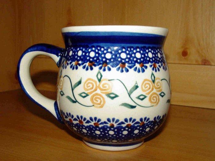 Polish Pottery Bubble Mug Gentleman's Boleslawiec Poland