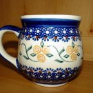 Polish Pottery Bubble Mug Gentleman's Boleslawiec Poland