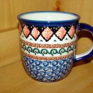 Polish Pottery Coffee Cup Unikat  Zaklady Ceramiczne Art 108 Handsigned