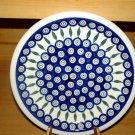 Polish Pottery Dinner Plate Peacock Zaklady Ceramiczne Boleslawiec Poland