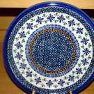 Polish Pottery  Dinner Plate Unikat Gat 1 New Hope Signed Zaklady Boleslwaiec Poland