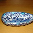 "Polish Pottery  ""Unikat"" Spoon Rest Boleslawiec Poland Lu Pattern"