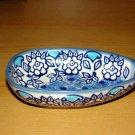 "Polish Pottery  ""Unikat"" Spoon Rest Boleslawiec Poland Lu Pattern"