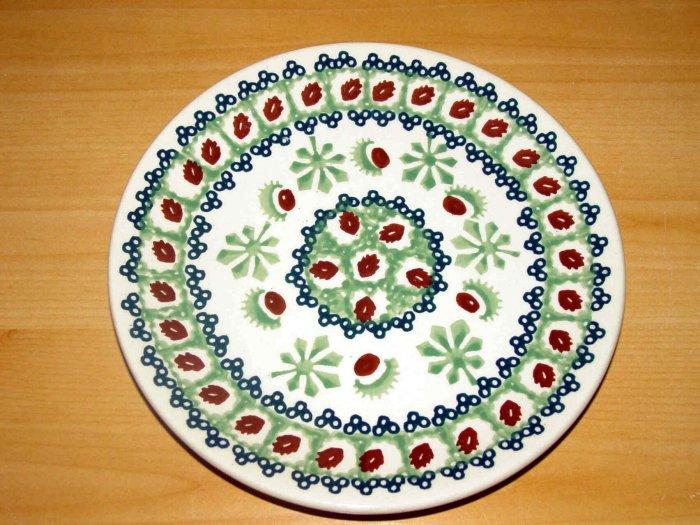 Polish Pottery Dessert Plate  Unikat Chestnut  Boleslawiec Poland