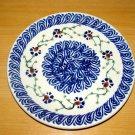 Polish Pottery Dessert Plate Trailing Flowers  Boleslawiec Poland