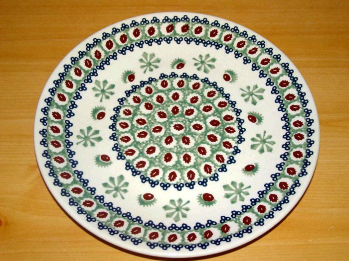 Polish Pottery Dinner Plate Chestnut  Boleslawiec Poland