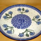 Polish Pottery Dinner Plate Unikat  Cornflower Boleslawiec Poland