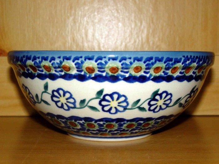 Polish Pottery Bowl Unikat Flutterby Boleslawiec Poland