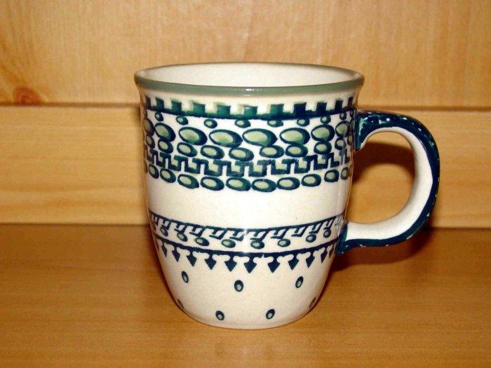 Polish Pottery Coffee Cup  Exclusive Unikat  Boleslawiec Poland
